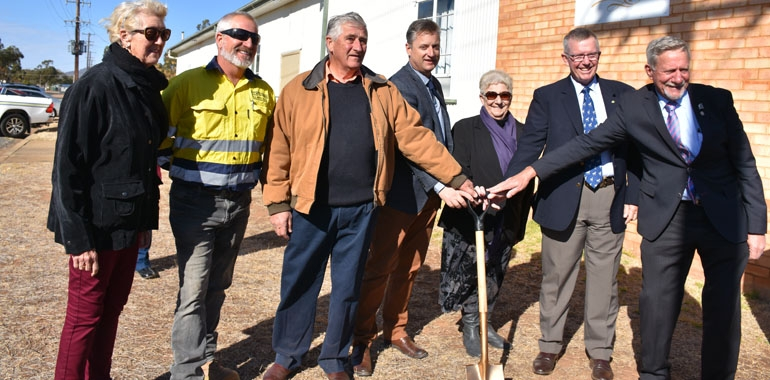 Sod turning for Curlewis Pipeline Project
