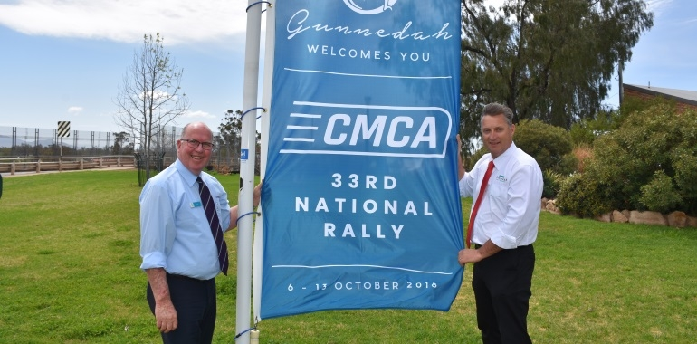 Give a warm welcome to the CMCA Rally